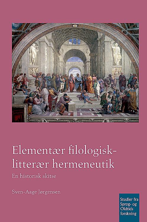 Sven-Aage Jørgensen, Elementær filologisk-litterær hermeneutik