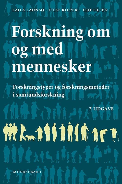 Laila Launsø;Olaf Rieper;Leif Olsen, Forskning om og med mennesker