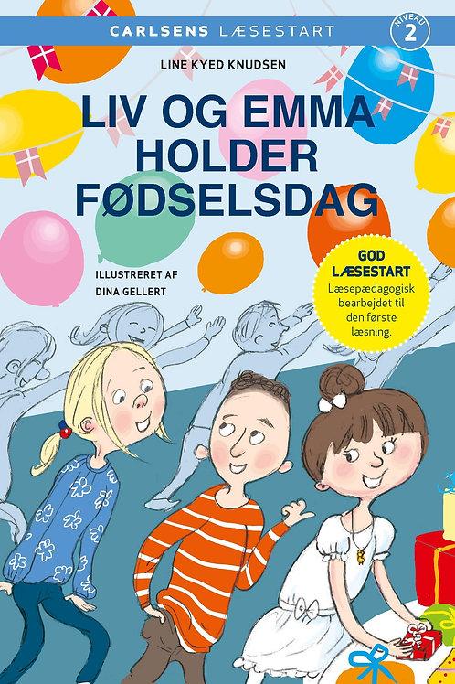 Line Kyed Knudsen, Carlsens Læsestart - Liv og Emma holder fødselsdag