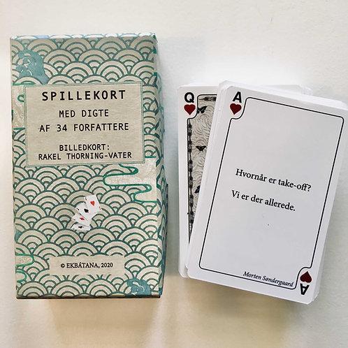Spillekort med digte af 34 forfattere