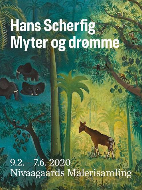 Hans Scherfig plakat. Myter og drømme.