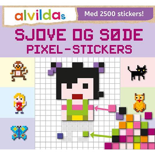 Alvildas sjove og søde pixel-stickers (sæt á 3 stk. Pris pr. stk. 69,95)