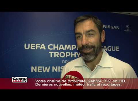 THE CHAMPIONS LEAGUE CUP AND ROBERT PIRES AT NISSAN LILLE BEFORE LOSC-AJAX
