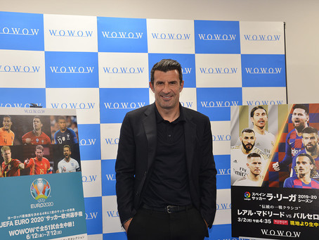 LUIS FIGO IS COMING TO JAPAN AS THE DIRECTOR OF WOWOW SOCCER 1-DAY ADVERTISING!