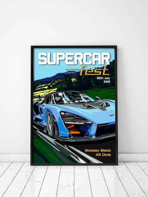 Supercar Fest 2019 Poster (A2)