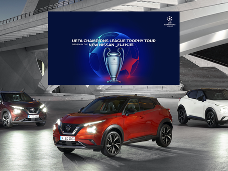CHAMPIONS LEAGUE TROPHY COMES TO GLYN HOPKIN NISSAN ST ALBANS!