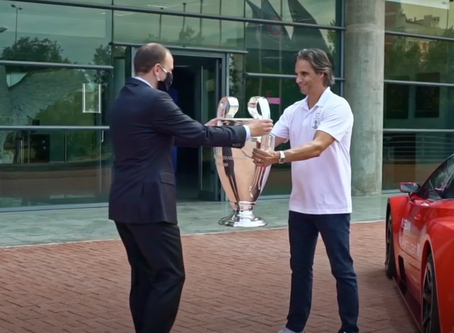 NISSAN AND NUNO GOMES DELIVER UEFA CHAMPIONS LEAGUE TROPHY