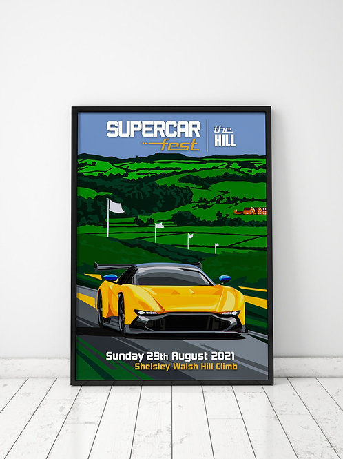 Supercar Fest 2021 - The Hill Poster (A2)