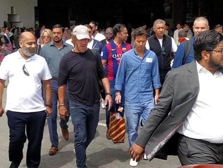 LEGENDARY FOOTBALL STAR CARLES PUYOL ARRIVES IN KARACHI