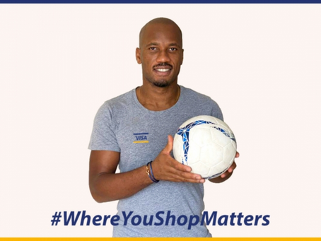 VISA PARTNERS WITH LEGEND DIDIER DROGBA TO CHAMPION SMALL BUSINESSES AND SHOW 'WHERE YOU SHOP MATTER