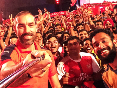 ROBERT PIRES RETURNS TO INDIA WITH ARSENAL
