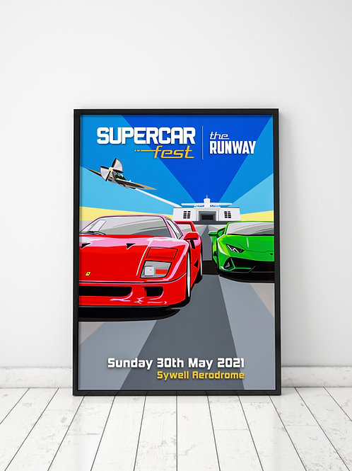 Supercar Fest 2021 - The Runway Poster (A2)