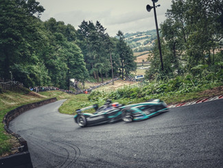 Shelsley Walsh Electrified by Jaguar Formula E Car & Will Hall wins both top 12 Run Offs