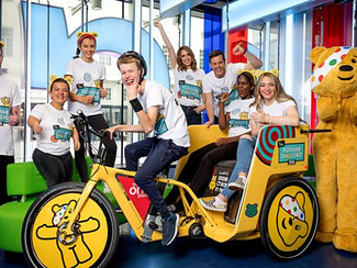 BBC Children in Need Rickshaw Challenge visiting Shelsley