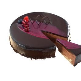11. Moussekake med sjokolade og bringebær