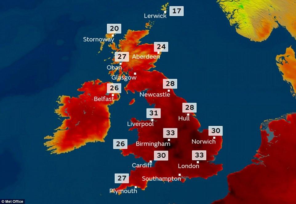 Hot weather - UK