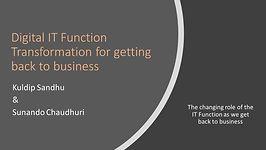 Digital IT Function Transformation for b