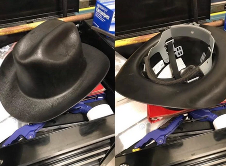 There's a Texan Cowboy Hardhat