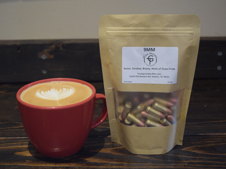 Grounds and Rounds- Texas Coffee Company Sells Ammunition and Coffee by the Pound