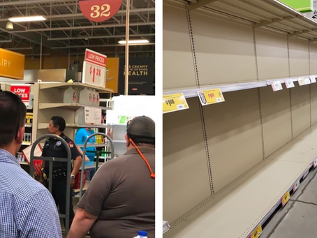 H-E-B's in Texas Have Armed Security Guards Watching Toilet Paper
