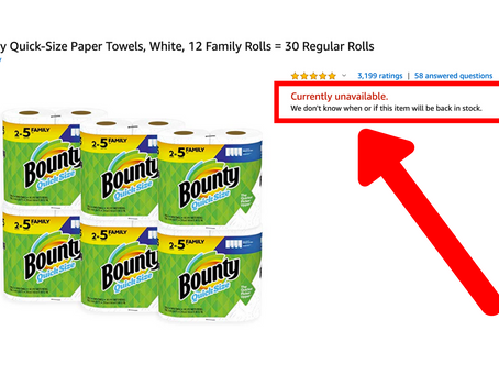 Amazon has Completely Sold Out of Toilet Paper and Paper Towels