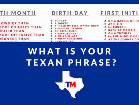 What is your Texan Phrase? 😂