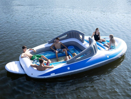 There's a Life-Size Inflatable Boat For Sale On Amazon