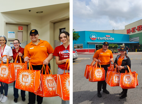 Whataburger Delivers Food To H-E-B Workers Working Long Hours to Keep Shelves Stocked