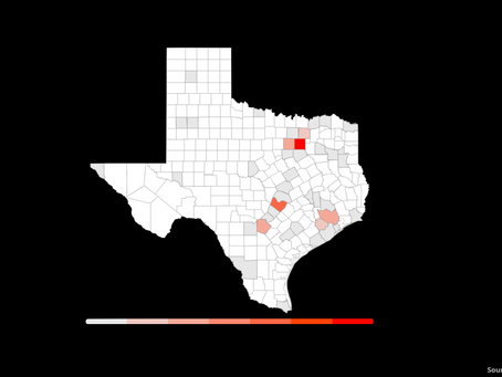 Real-Time Map of Coronavirus Cases in Texas, by County