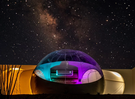 You Can Sleep in a Bubble Tent in Texas Near an Old Ghost Town