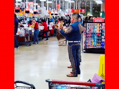Mariachi Plays Music at H-E-B to Help Keep Shoppers Calm During Long Lines and Panic Buying