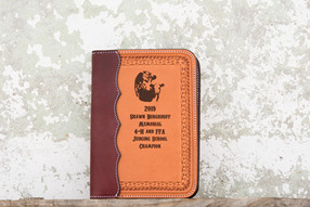 Small leather notebook cover