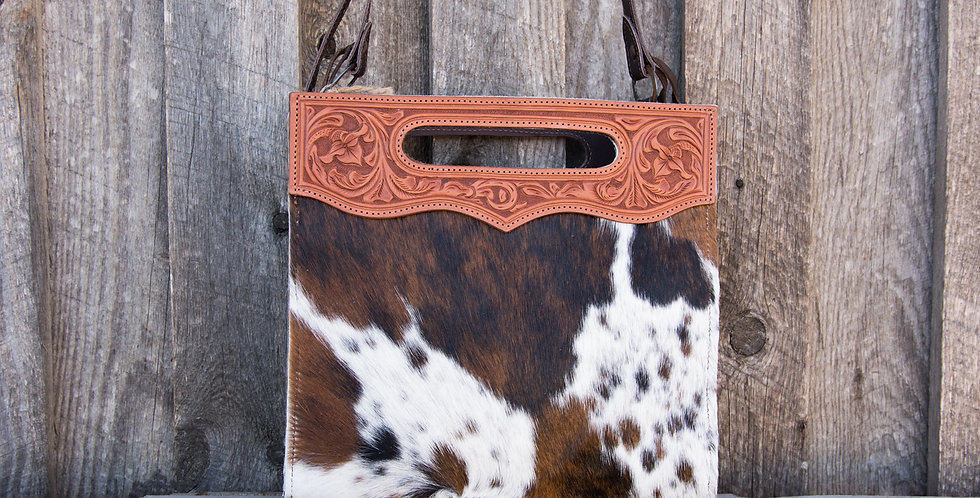 Red Horse Design Company: Tooled Handle Tote - #340