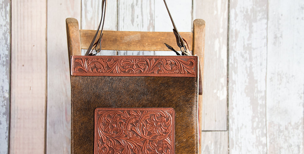 Red Horse Design Company: Floral Tooled Tote - #227