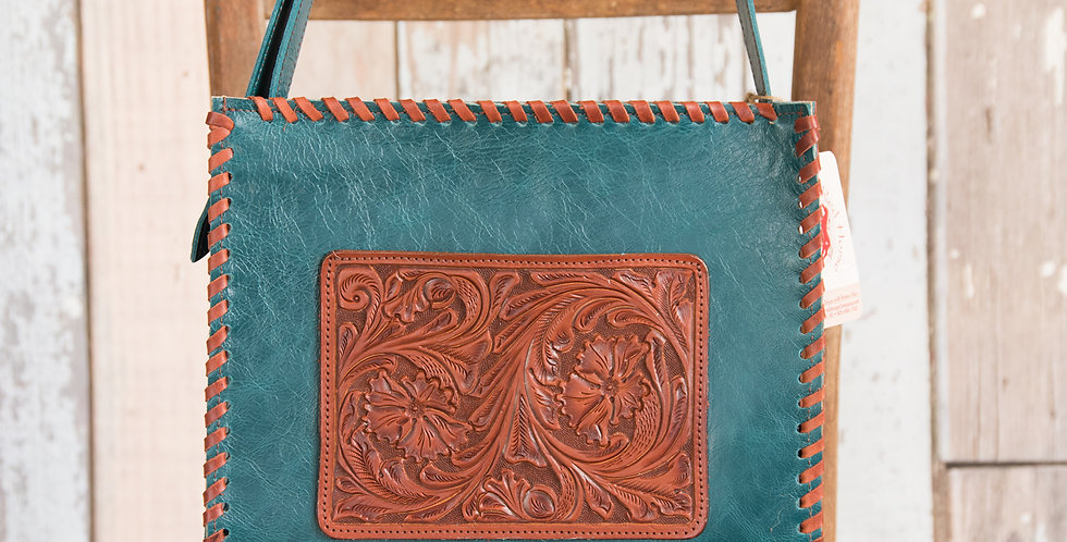 Red Horse Design Company: Floral Tooled Tote - #242