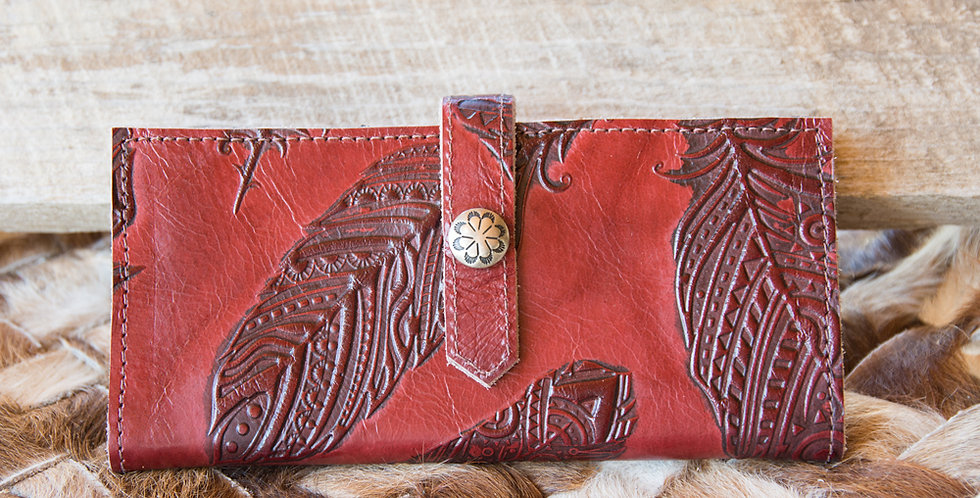 Red Horse Design Company: Red Feather Checkbook Cover - #6