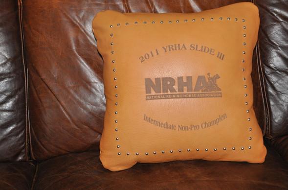 Leather Award Pillow