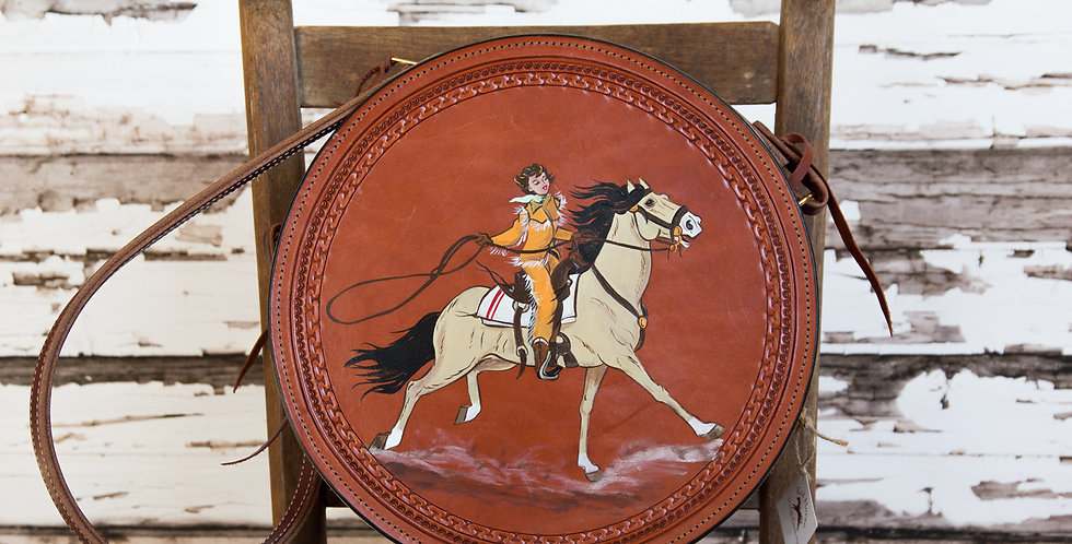 Red Horse Design Company: Hand Painted  Rope Can Purse - #190