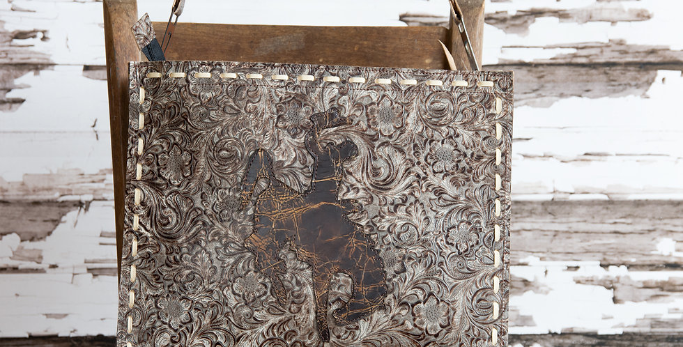 Red Horse Design Company: XL Bucking Horse Tote #34