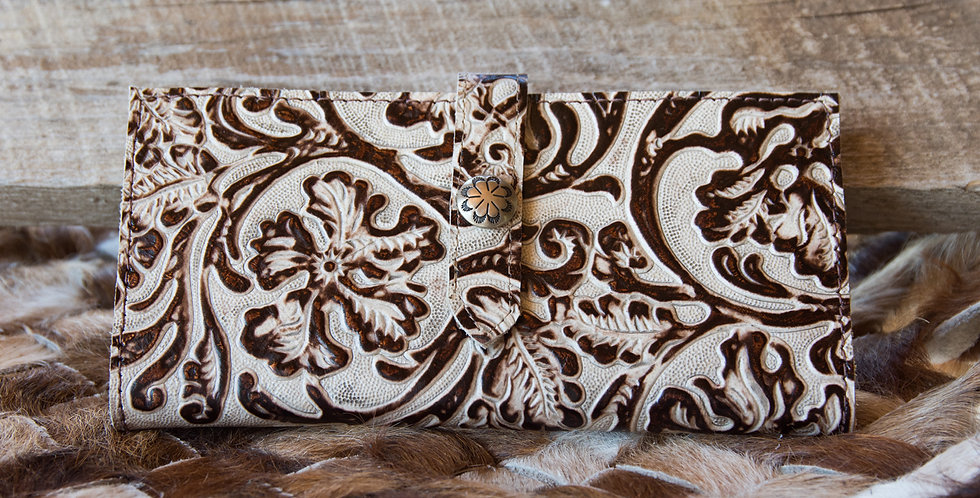 Red Horse Design Company: Ivory and Bronze Checkbook Cover - #5