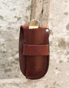 Knife and leather sheath