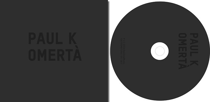 """""""Omertà"""" Limited Special Edition CD & Book Package"""