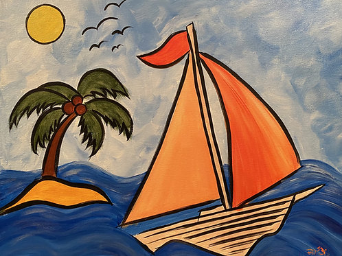 """Paint Party """"To-Go"""" - GOING SAILING"""