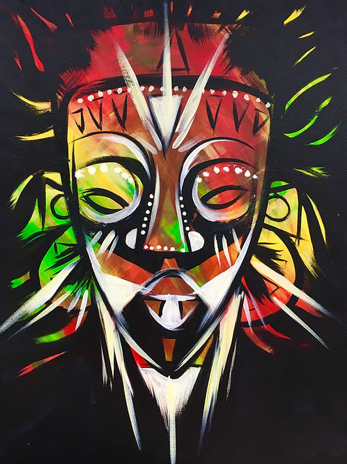 """Paint Party """"To-Go""""- AFRICAN MASK 2"""