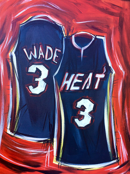 """Paint Party """"To-Go"""" - BASKETBALL JERSEY (HEAT)"""