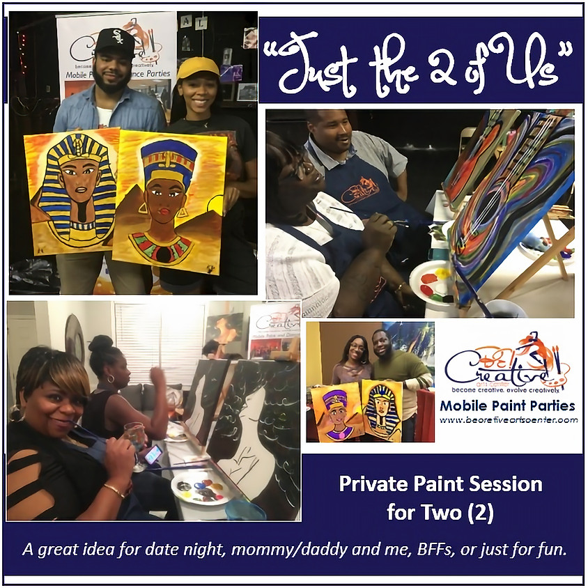 PRIVATE - Virtual Paint Party for 2 - Charietta Foreman