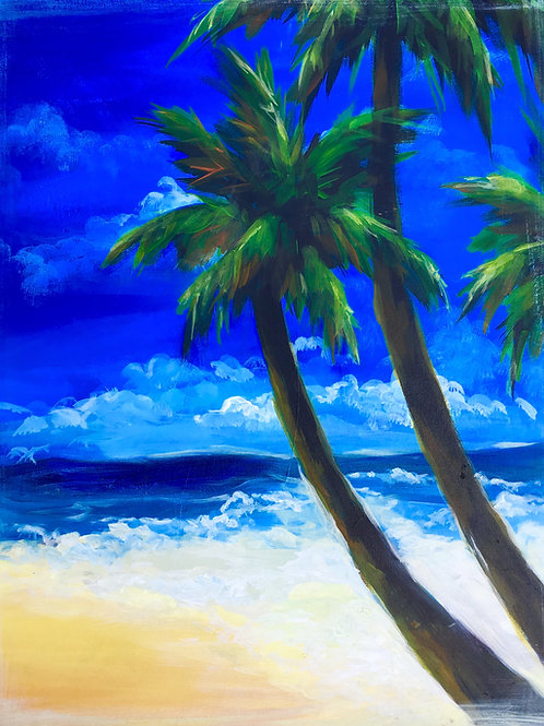"Paint Party ""To-Go"" - PALM TREES"