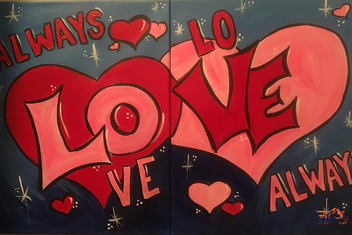 """Paint Party """"To-Go"""" - ALWAYS LOVE ALWAYS"""