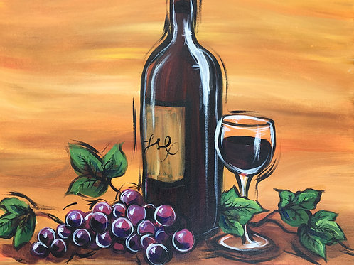 "Paint Party ""To-Go"" - WINE AND GRAPES"