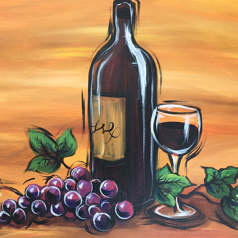 Virtual Paint Party with BE! Creative - WINE AND GRAPES